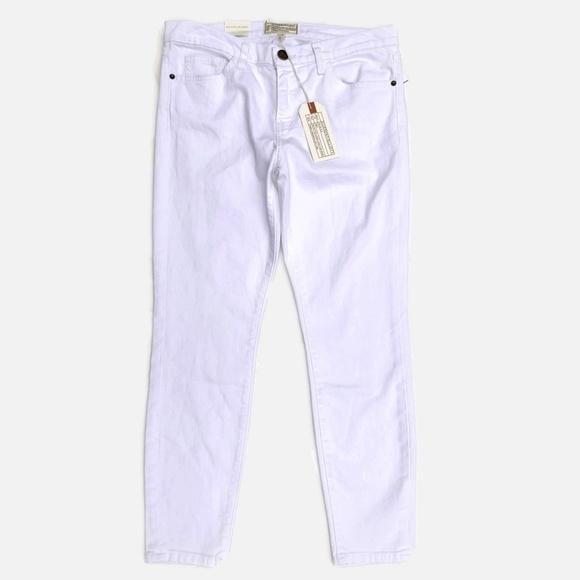 Current/Elliott Denim - Current/Elliott The Stiletto Skinny Jeans White 30
